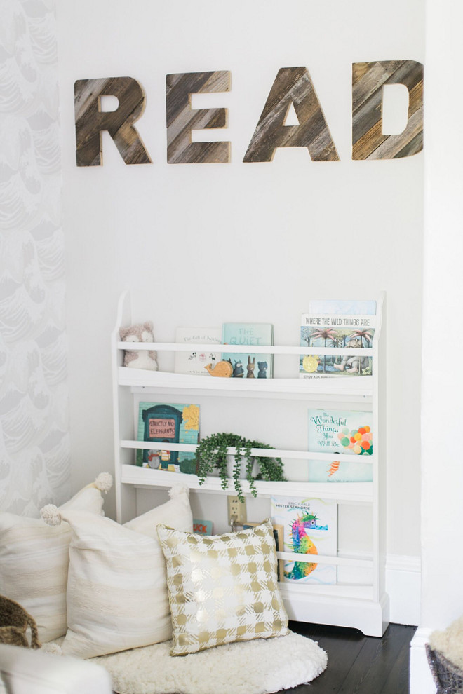 Reclaimed Wood Letters. Nursery Reclaimed Wood Letters. The reclaimed wood letters bring a farmhouse feel to this nursery #farmhousenursery #ReclaimedWoodLetters #Nurseryletters #ReclaimedLetters Home Bunch Beautiful Homes of Instagram @finding__lovely
