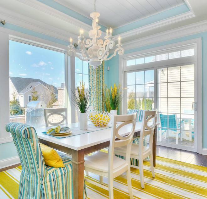 Cheerful Beach Cottage With Turquoise Color Scheme Home Bunch Interior Design Ideas