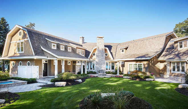 Timeless Gambrel-Style Shingle Home. Timeless Gambrel-Style Shingle Home Design. Timeless Gambrel-Style Shingle Home Architecture. Timeless Gambrel-Style Shingle Home Ideas. #GambrelStyleShingleHome #GambrelShingleHome #GambrelShingleHomeDesign #GambrelShingleHomeArchitecture #GambrelShingleHomeIdeas Benchmark Wood & Design Studios - Mike Schaap Builders