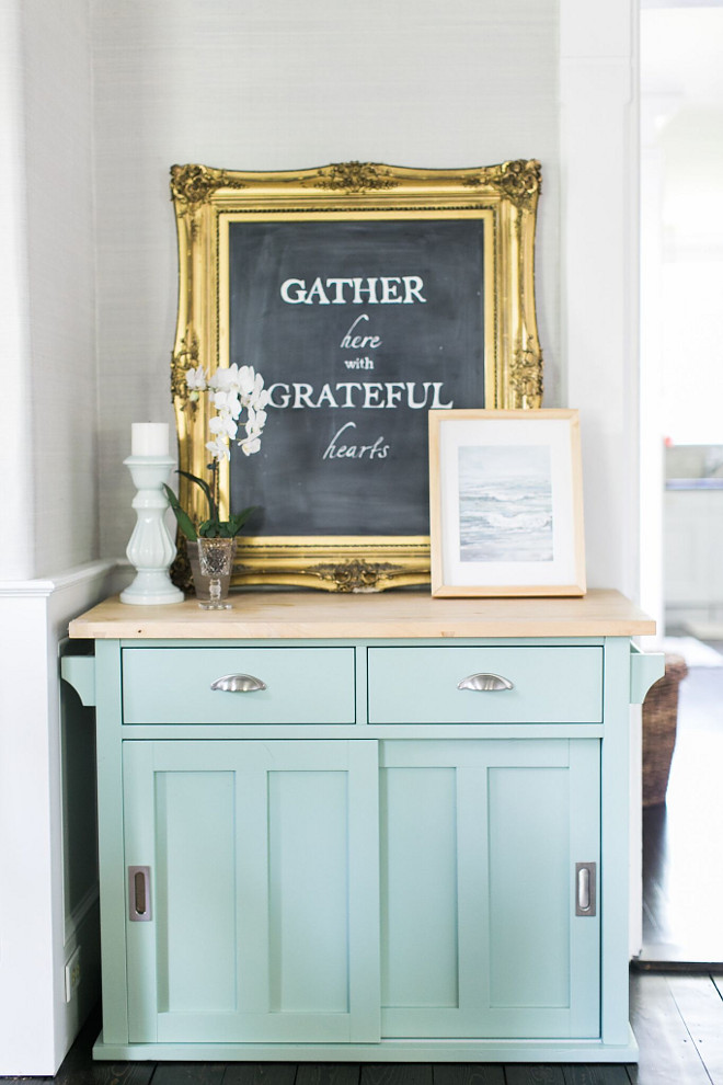 Turquoise Hutch. Light Turquoise Hutch #TurquoiseHutch Home Bunch Beautiful Homes of Instagram @finding__lovely