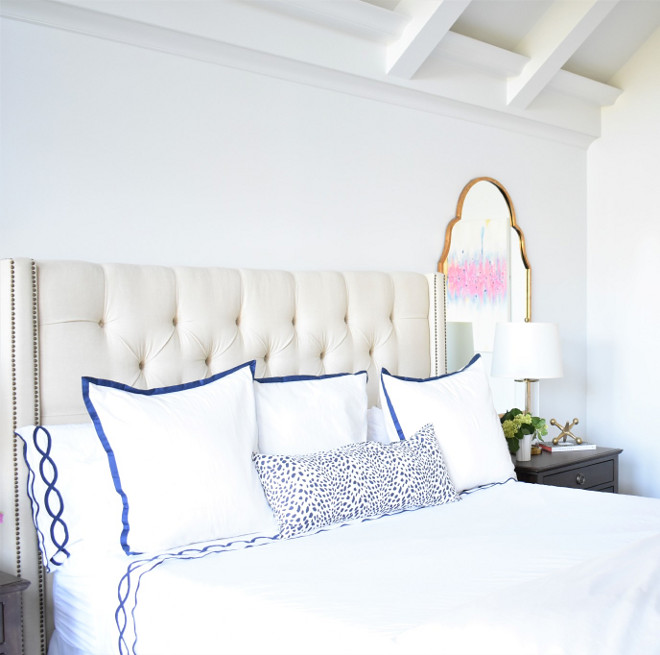 White and navy bedding. Classic White and navy bedding ideas. White and navy bedding. White and navy bedding #Whiteandnavybedding #bedding Kate Abt Design