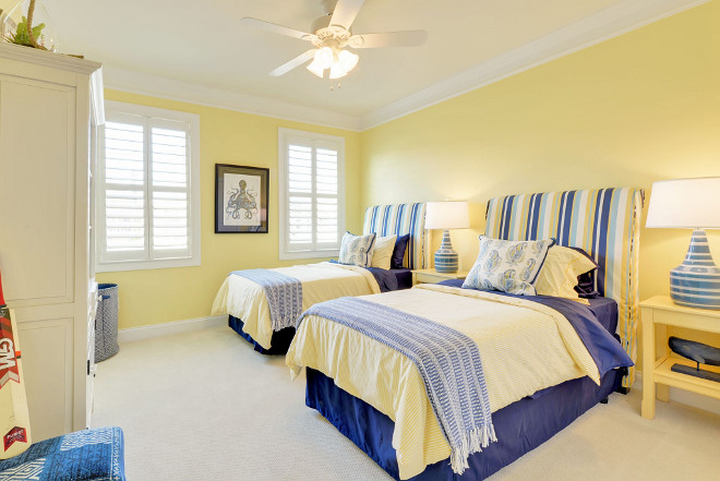 Yellow Bedroom. Yellow Bedroom Paint Color SW6900 Optimistic Yellow Paint Color Sunny Yellow Paint Color. Sherwin Williams SW6900 Optimistic Yellow #YellowBedroom #YellowBedroomPaintColor #YellowPaintColor #SunnyYellowPaintColor #SW6900OptimisticYellow Echelon Custom Homes