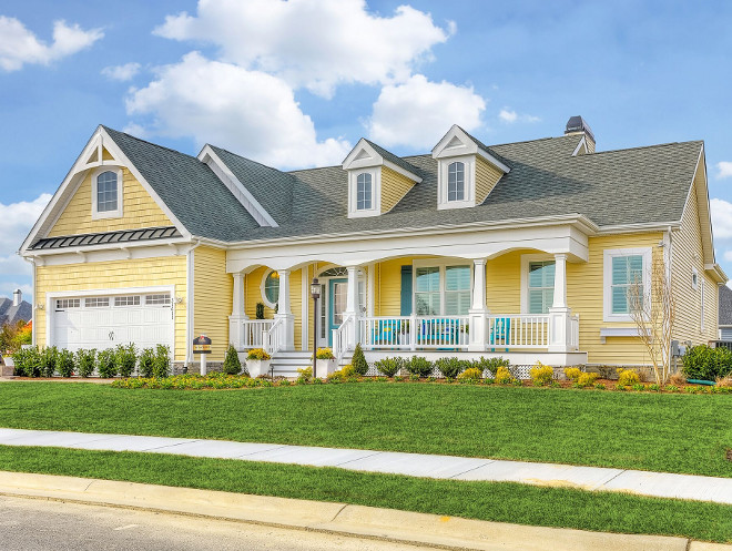 Yellow House Exterior Paint Color Sherwin Williams Optimistic Yellow. Sherwin Williams Optimistic Yellow Exterior Paint Color. Yellow exterior paint color Sherwin Williams Optimistic Yellow #SherwinWilliamsOptimisticYellow Echelon Custom Homes