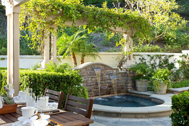 Backyard Water Feature. Backyard Water Feature Ideas. Backyard Water Feature #BackyardWaterFeature #Backyard #WaterFeature Barclay Butera