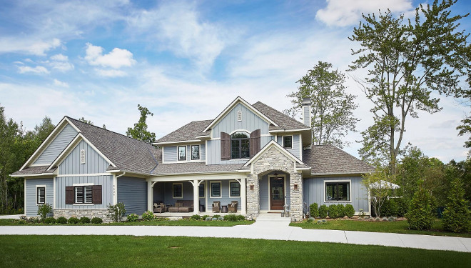 Benjamin Moore HC-167 Amherst Gray. Benjamin Moore HC-167 Amherst Gray Gray Paint Color Benjamin Moore HC-167 Amherst Gray Gray Exterior Paint Color #BenjaminMooreHC167AmherstGray #Exterior #PaintColor Mike Schaap Builders