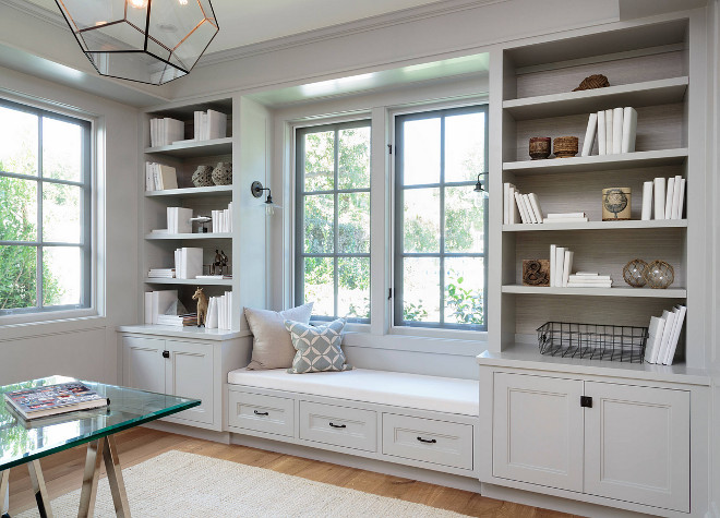 Home with crisp transitional interiors home bunch for Benjamin moore paint for kitchen cabinets