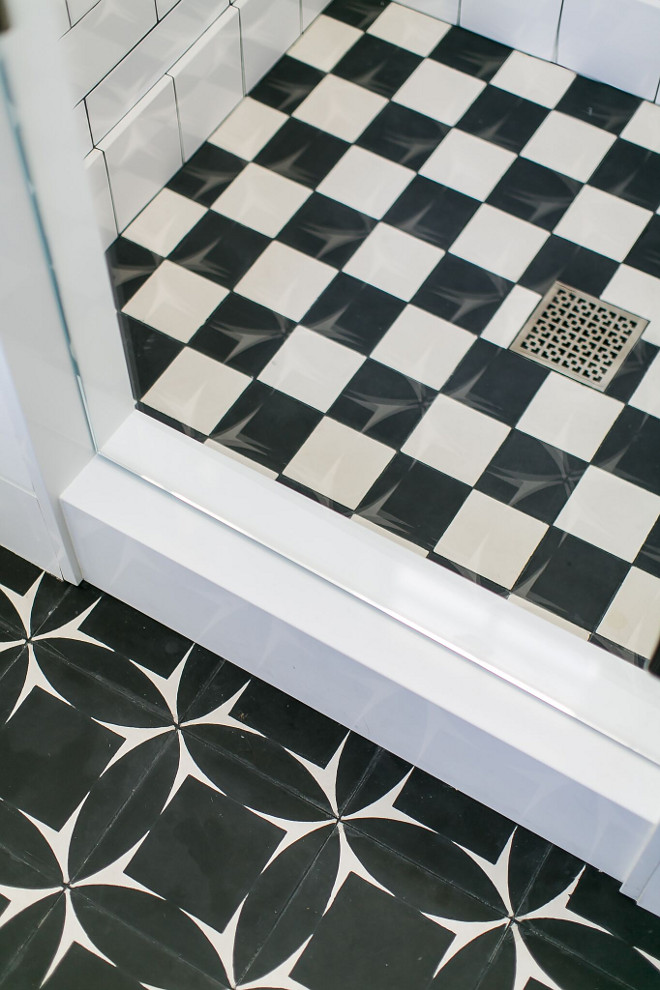 Black and White Cement Tile. Black and White Cement Tile. Black and White Cement Tile #BlackandWhiteCementTile #CementTile Patterson Custom Homes