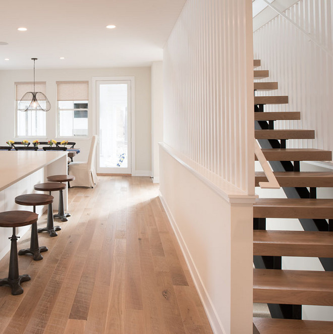 Bleached white oak floor. Farmhouse Bleached white oak floor. Modern Farmhouse Bleached white oak floor #Bleachedwhiteoakfloor #FarmhousBleachedwhiteoakfloor #ModernFarmhouse # whiteoakfloor Refined Custom Homes
