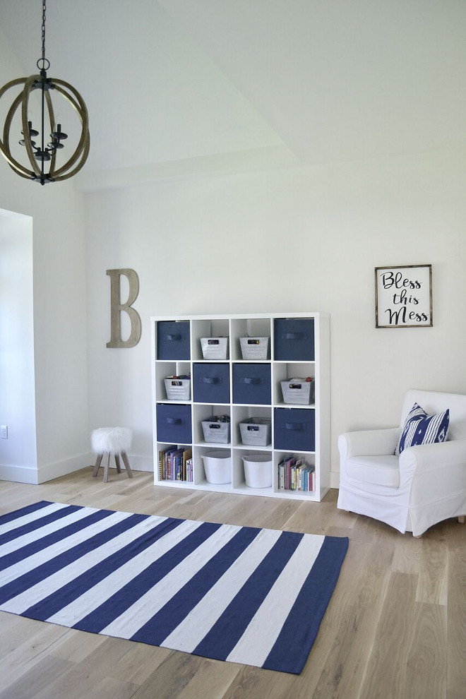 Blue and white playroom. Blue and white playroom ideas. Blue and white playroom. Blue and white playroom. Blue and white playroom #Blueandwhiteplayroom #playroom Home Bunch's Beautiful Homes of Instagram @sweetthreadsco