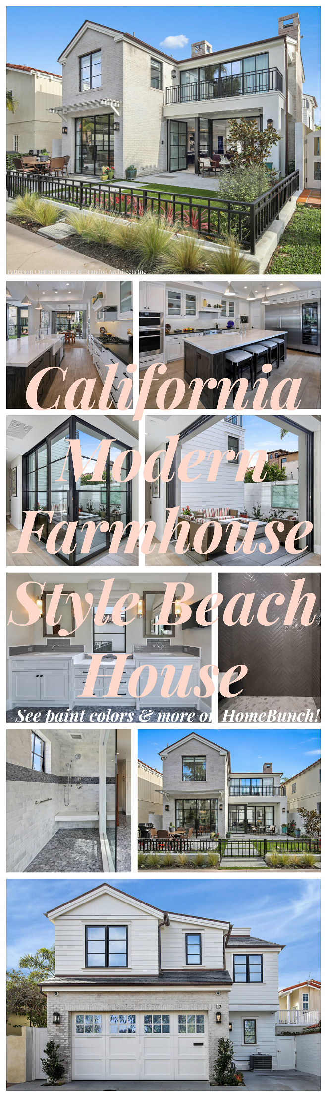 California Modern Farmhouse beach house