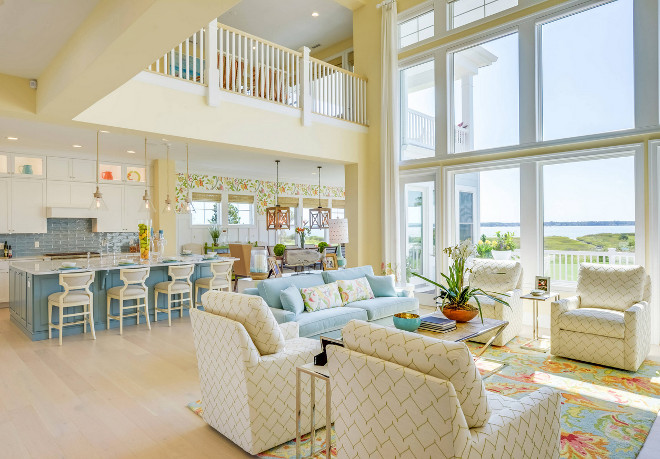 Coastal Color Scheme. Blues, whites and creamy yellows coastal color scheme #coastal #colorscheme #coastalcolorscheme #blues #whites #creamyyellows Echelon Interiors