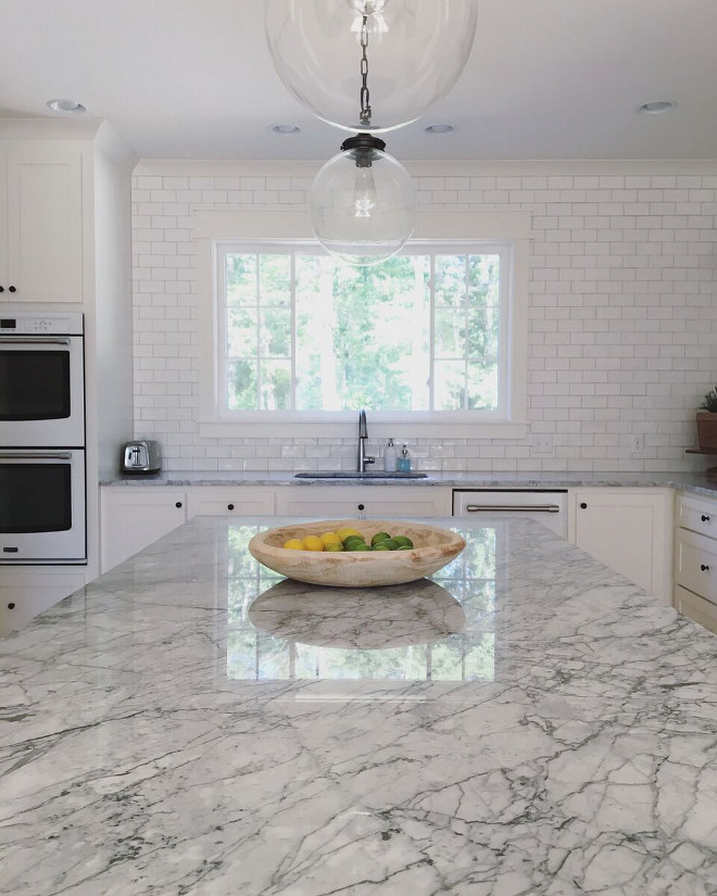Beautiful homes of instagram home bunch interior design for How to care for carrara marble countertops