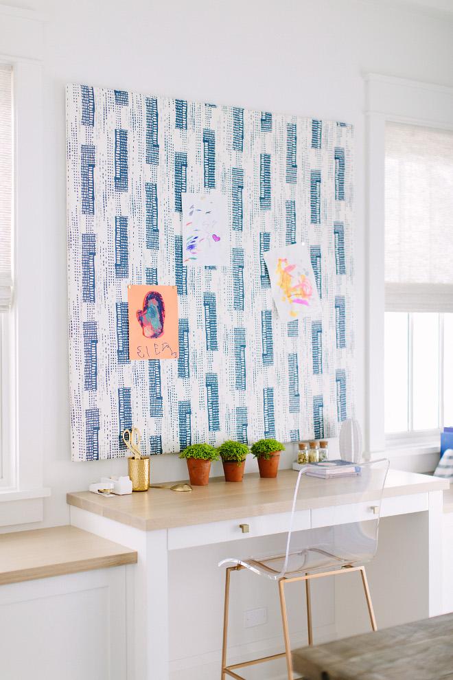 DIY pin board. DIY custom linen pin board ideas. DIY linen pin board. DIY linen pin board ideas #DIYpinboard #diy #pinboard Kate Marker Interiors