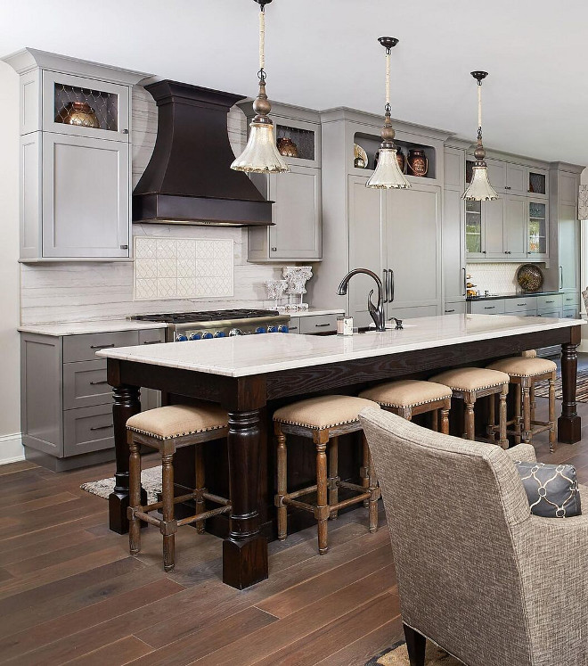 Dark stained kitchen island White Oak stained. Dark stained kitchen island White Oak stained. Dark stained kitchen island White Oak stained #Darkstainedkitchenisland #darkstainedWhiteOak Mike Schaap Builders
