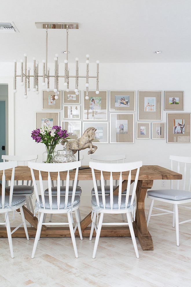 Dining room gallery wall. Dining room gallery wall picture frames. Dining room gallery wall. Picture Frames are from West Elm. Dining room gallery wall #Diningroom #gallerywall #pictureframes
