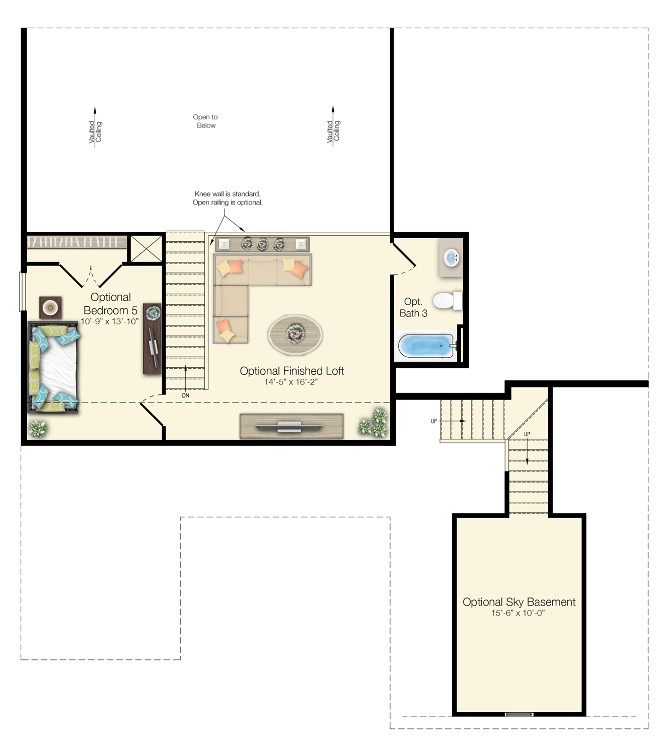 Empty Nester Home Floor Plan 2nd Floor with loft area. Empty Nester Home Floor Plan 2nd Floor with loft. #EmptyNesterfloorPlan #2ndFloor #loft  Echelon Interiors via Home Bunch