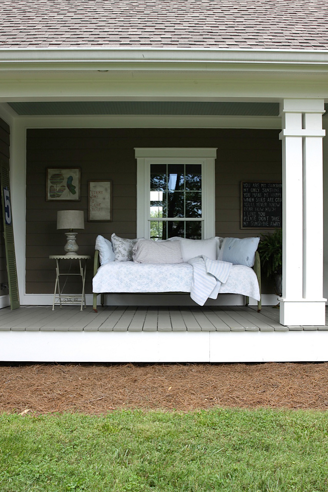 Farmhouse Back Porch Daybed. Farmhouse Back Porch Daybed. Farmhouse Back Porch Daybed. Farmhouse Back Porch Daybed #FarmhouseBackPorch #Daybed #PorchDaybed Home Bunch's Beautiful Homes of Instagram @blessedmommatobabygirls