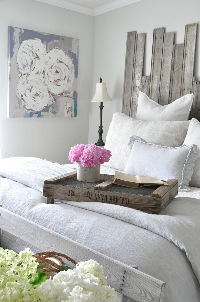 Farmhouse Bedroom Decor. Farmhouse Bedroom Decor. The bedding is a mix of Bella Notte Linens (bedskirt and shams) and Pom Pom at Home duvet cover with small pillow. Farmhouse Bedroom Decor. Farmhouse Bedroom Decor. Farmhouse Bedroom Decor #FarmhouseBedroomDecor Home Bunch's Beautiful Homes of Instagram @becky.cunningham.home