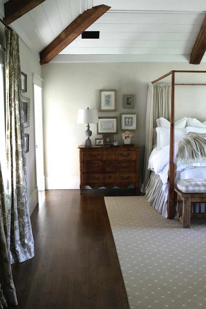 Farmhouse bedroom shiplap and beam ceiling. Farmhouse bedroom shiplap and beam ceiling. Farmhouse bedroom shiplap and beam ceiling ideas #Farmhousebedroom #farmhosue #bedroom #shiplap #beam #ceiling Home Bunch's Beautiful Homes of Instagram @blessedmommatobabygirls