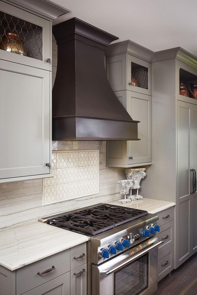Faux Aged Copper Hood. Faux Aged Copper Hood Ideas. The kitchen hood features a faux finish to look like copper. Aged Copper Hood. Aged Copper Kitchen Hood Ideas #AgedCopperKitchenHood #CopperKitchenHood #FauxCopperKitchenHood Mike Schaap Builders