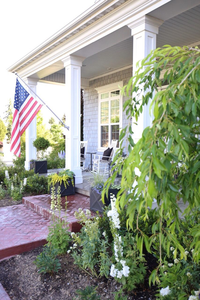 Flag Porch. Flag Porch. Flag Porch. Flag Porch. Flag Porch #Flag #Porch Home Bunch's Beautiful Homes of Instagram @cambridgehomecompany