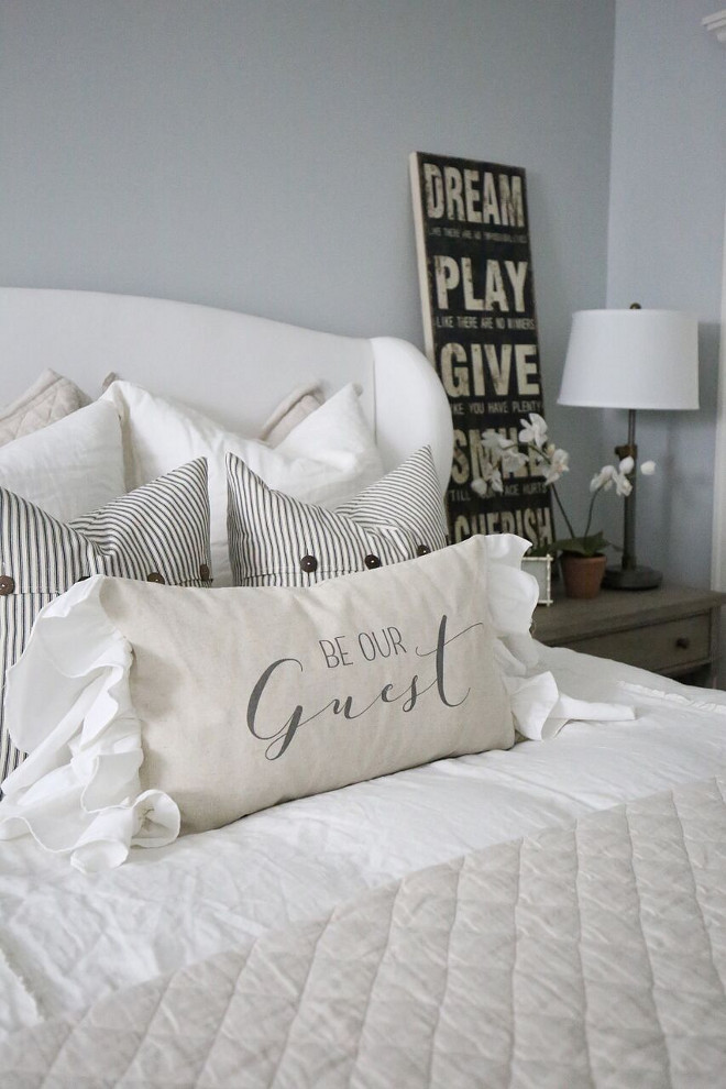 Guest Bedroom Pillows. Guest Bedroom Pillows. Guest Bedroom Pillows. Guest Bedroom Pillows. Guest Bedroom Pillows #GuestBedroomPillows #BedroomPillows #Bedroom #Pillows Home Bunch's Beautiful Homes of Instagram @cambridgehomecompany