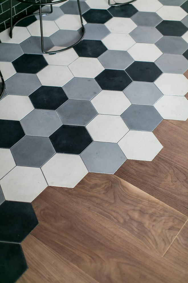 Hexagon Cement Tile. Hexagon Cement Tile. Flooring is concrete hexagon cement tile. Hexagon Cement Tile. Hexagon Cement Tile. Hexagon Cement Tile #HexagonCementTile #Hexagon #CementTile Patterson Custom Homes
