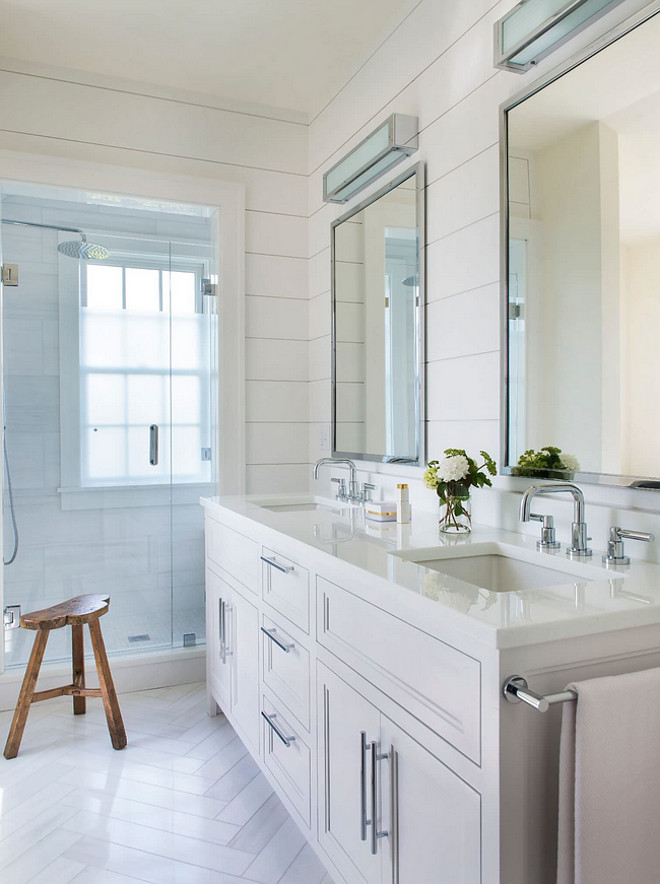 Horizontal Shiplap and herringbone floor tile. Bathroom Horizontal Shiplap and herringbone floor tile. Bathroom Horizontal Shiplap and herringbone floor tile ideas. Horizontal Shiplap and herringbone floor tile #HorizontalShiplap #Shiplap #herringbonefloortile Cynthia Hayes Interior Design
