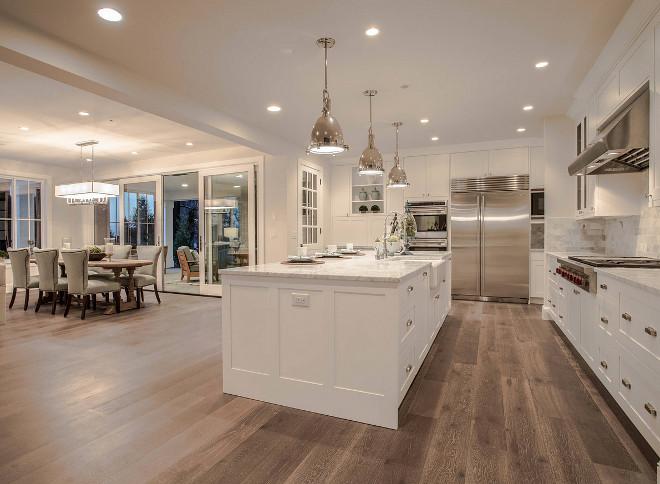 Kitchen Flooring. Kitchen Hardwood Flooring. Kitchen Hickory Hardwood Flooring. Kitchen wide plank Hickory Flooring