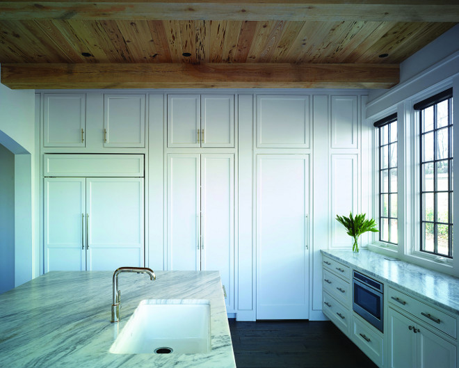 Kitchen Stacked Cabinets. Kitchen Stacked Cabinet Ideas. Kitchen features stacked cabinets, Pecky cypress shiplap ceiling and white quartzite countertop. Kitchen Stacked Cabinets. Kitchen Stacked Cabinets #KitchenStackedCabinets #StackedCabinets #Peckycypressshiplap #Peckycypress #shiplap Christopher Architecture & Interiors
