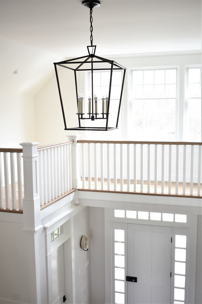 Large Darlana Lantern in two storey Foyer. Large Darlana Lantern in two storey Foyer. Large Darlana Lantern in two storey Foyer #LargeDarlanaLantern #DarlanaLantern #twostoreyFoyer Kate Abt Design