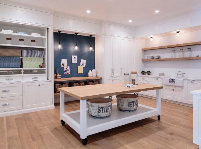 home with crisp transitional interiors - home bunch interior design Large Laundry Room Ideas