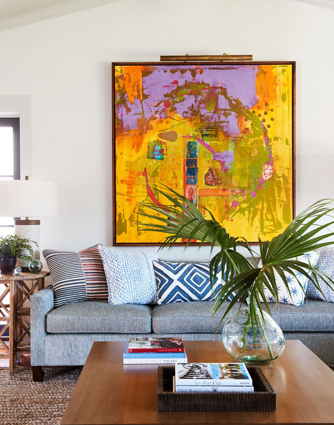 Living Room Art Ideas. Artwork is by Steve Williams. Living Room Art Ideas. Living Room Art Ideas. Living Room Art Ideas #LivingRoom #Art #livingroomIdeas Andrew Howard Interior Design