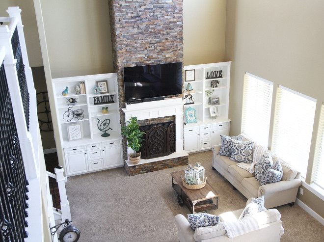 Living room with loft Home Bunch's Beautiful Homes of Instagram @AshleysDecorSpace_