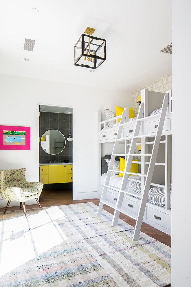 Modern Bunk Room. Modern Bunk Room Design Ideas. Modern Bunk Room. Modern Bunk Room #ModernBunkRoom #BunkRoom Patterson Custom Homes