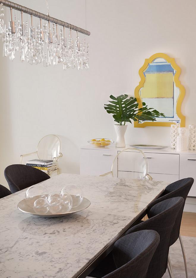 Modern apartment dining room ideas. Tara Benet Design