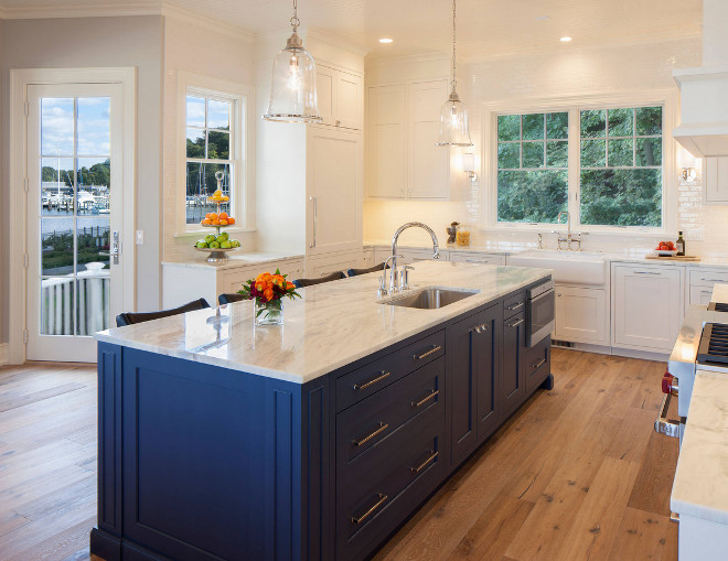 Kensington Blue by Benjamin Moore Navy Blue Kitchen Island. Kensington Blue by Benjamin Moore Navy Blue Kitchen Island Color. Navy Blue Kitchen Island Ideas. Navy Blue Kitchen Island. Navy Blue Kitchen Island Kensington Blue by Benjamin Moore #KensingtonBluebyBenjaminMoore #NavyBlueKitchenIsland #NavyBlueIsland Francesca Owings Interior Design