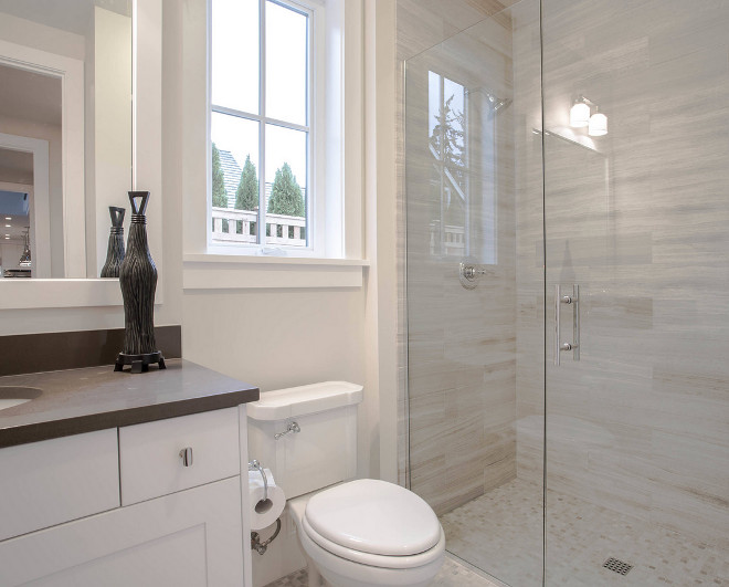 Family Home With New Modern Farmhouse Interiors Home Bunch - Guest bathroom tile ideas