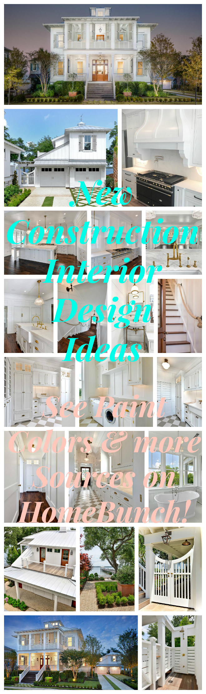 New Construction Interior Design Ideas. New Interior Design Ideas - a weekly series featuring the newest interior trends! See more on Home Bunch!