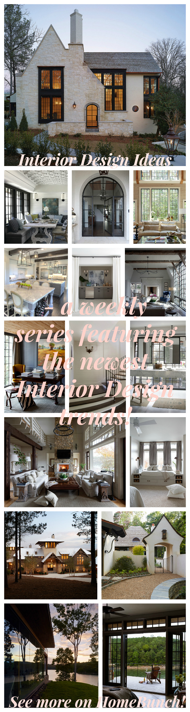 New Interior Design Ideas - a weekly series featuring the newest interior trends! See more on Home Bunch!