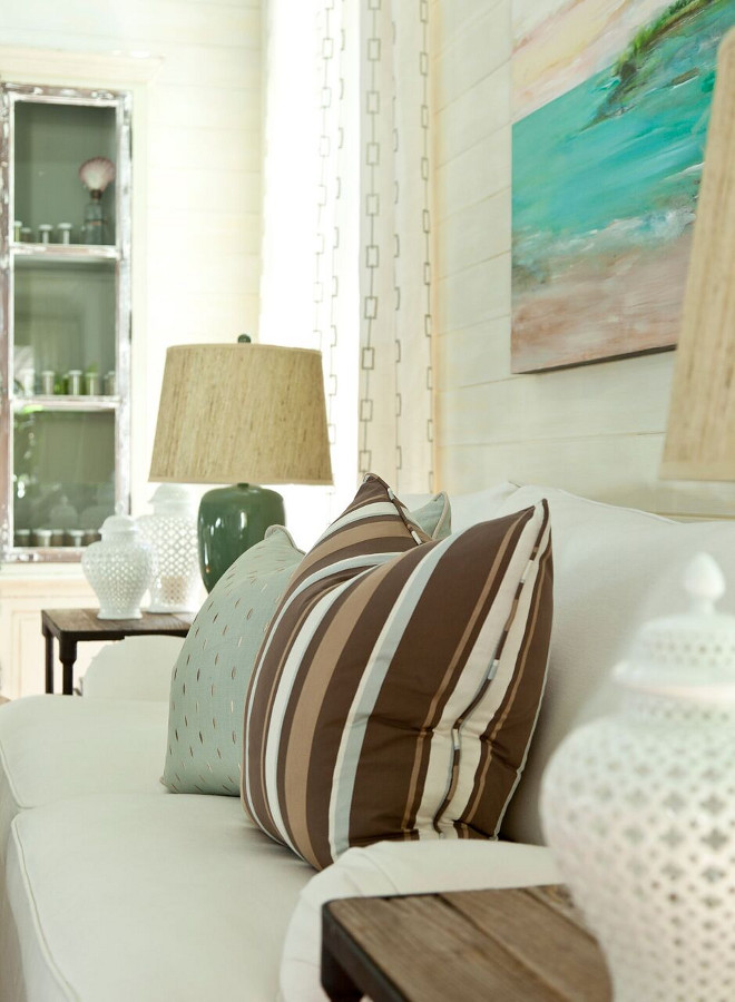 Pillows are Barclay Butera for Kravet Inc fabric used – pillows are custom made in house. Barclay Butera