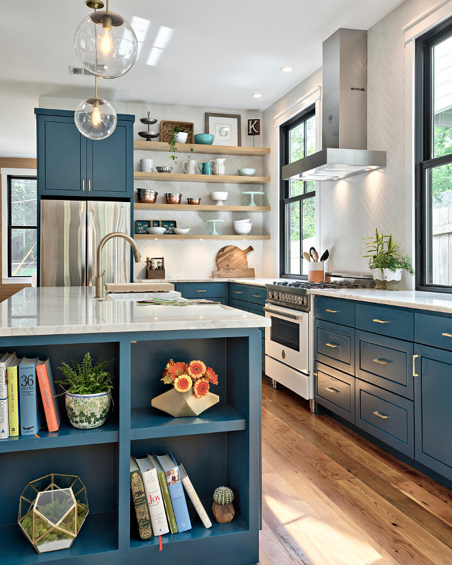 Vintage Blue Kitchen Cabinets: Creating A Color Palette For Your Home