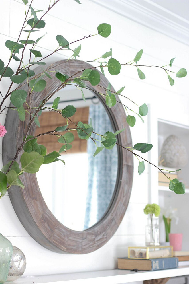 Round Mirror Mirror - Homegoods Home Bunch's Beautiful Homes of Instagram @laura_willowstreetinteriors