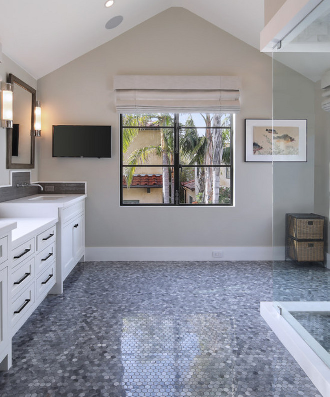 Flat Paint Bathroom: California Modern Farmhouse Style Beach House