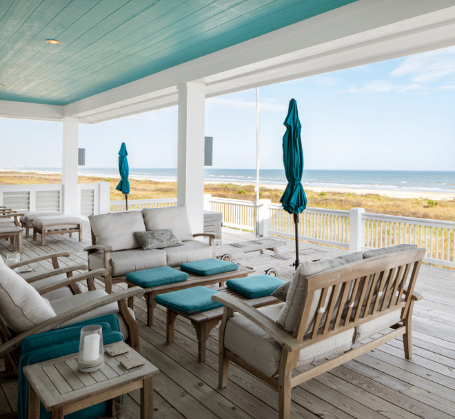 Sherwin Williams Bora Bora Shore SW 9045. Sherwin Williams Bora Bora Shore SW 9045. Sherwin Williams Bora Bora Shore SW 9045. Blue Porch Ceiling Patio Color #BluePorchCeilingPatioColor #SherwinWilliamsBoraBoraShoreSW9045 Julie Barrett Design