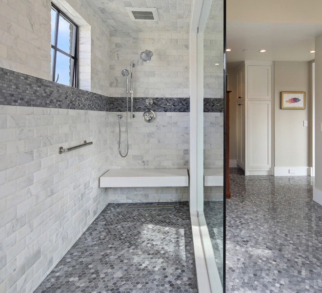 Shower tile inspo. Shower tile inspo. The shower wall tile and floor tile are by New Ravenna. Shower tile inspo #Showertile #Showertileinspo Patterson Custom Homes
