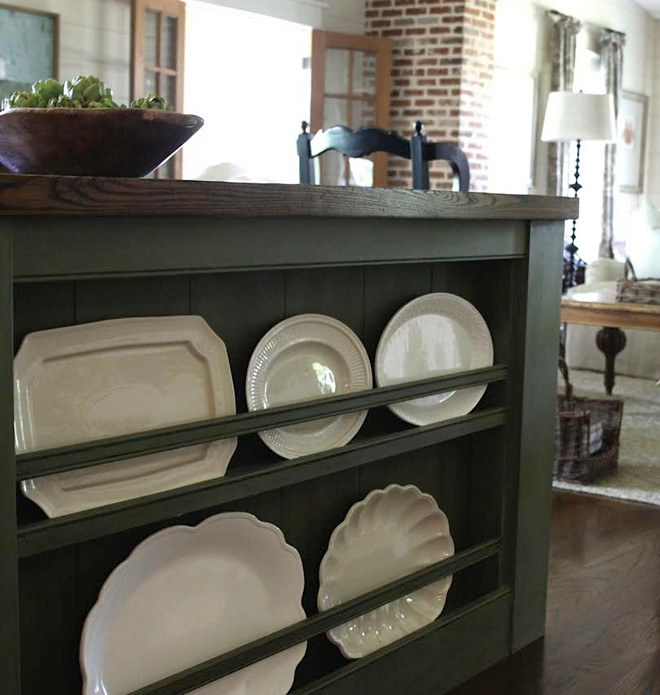 Side Kitchen Island Ideas. Farmhouse Kitchen island. #farmhousekitchenisland #sidekitchenisland Home Bunch's Beautiful Homes of Instagram @blessedmommatobabygirls