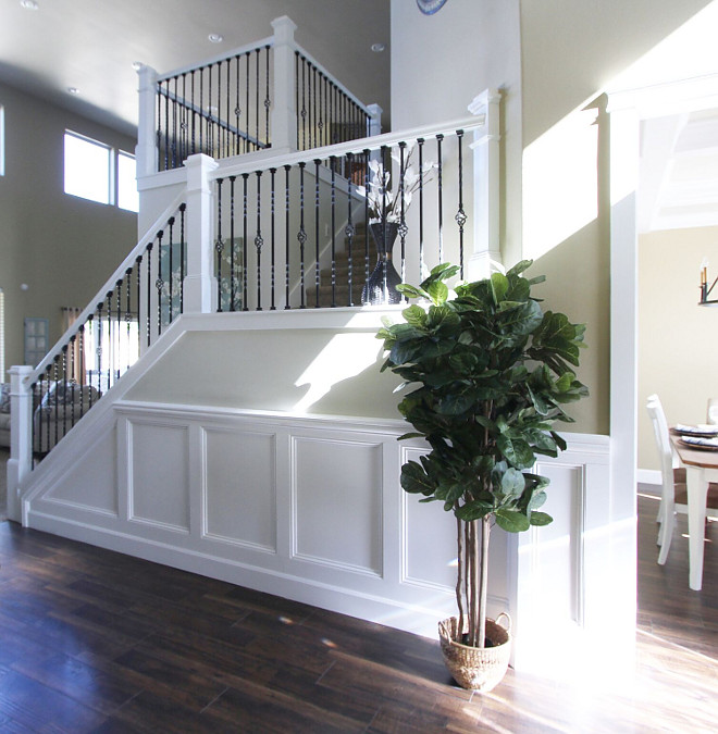 Staircase Wainscotting. Staircase Wainscotting. Staircase Wainscotting. Staircase Wainscotting. Staircase Wainscotting #StaircaseWainscotting #Staircase #Wainscotting Home Bunch's Beautiful Homes of Instagram @AshleysDecorSpace_