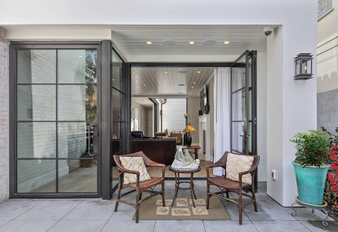 Steel and Glass Front Door. Steel and Glass Front Door. The large storefront doors are from Euroline and the windows are Jeld-Wen. Steel and Glass Front Door #SteelandGlassFrontDoor #SteelandGlassDoor #SteelandGlass #FrontDoor Patterson Custom Homes