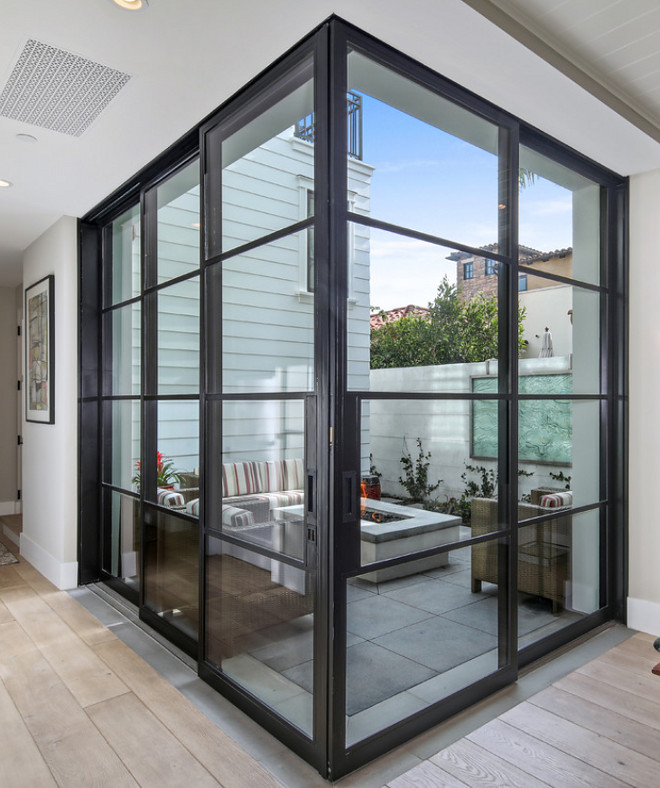 Steel door pocket sliders. Sliding patio doors. Steel pocket door #Steeldoor #steelpocketsliders #Slidingpatiodoors #Steelpocketdoor Patterson Custom Homes